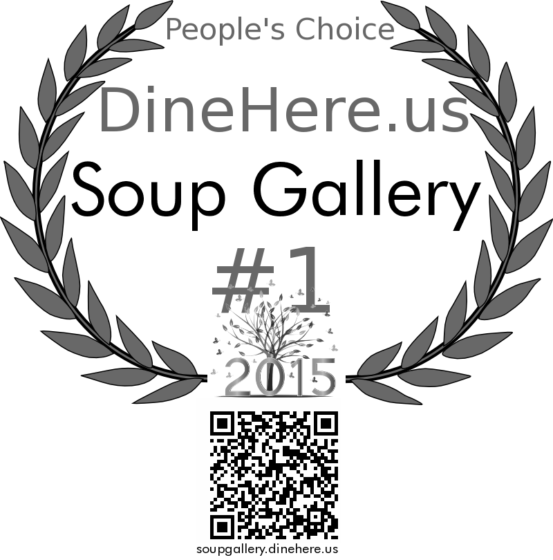 Soup Gallery DineHere.us 2015 Award Winner