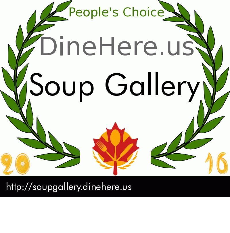 Soup Gallery DineHere.us 2016 Award Winner